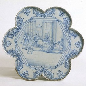 Tea tray, 1743. Museum no. 3864-1901