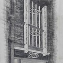 Boots, Regent Street, London. Fritz Landauer (1883–1968). Not as built, preliminary design for new shop front, 1933. Charcoal and pencil on tracing paper. Presented by Mrs N. Fried, 1969. RIBA Library Drawings Collection