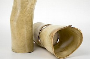 Two large hollow tube forms, Steve Howlett, 2005