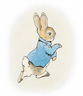 Original illustration for 'The Tale of Peter Rabbit', Beatrix Potter. © Frederick Warne & Co. 2006