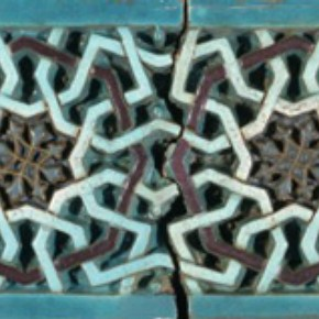 Tile panel, about 1360, Museum no. 1978-1899