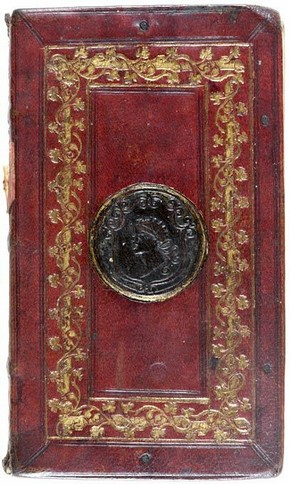 Bookbinding (detail), about 1520. Museum no. AL.287-1883