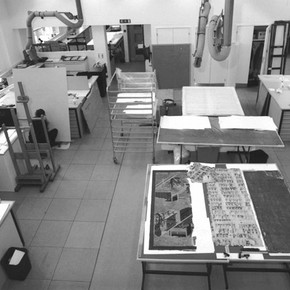 The new Paper Conservation Studio. Photography by V