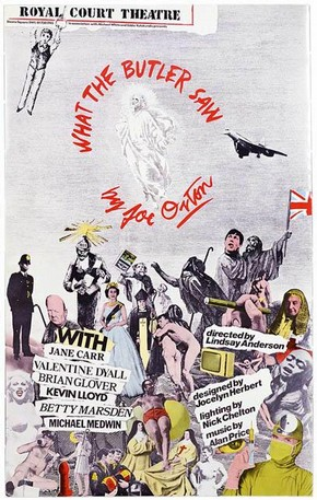 Poster for What The Butler Saw by Joe Orton, Lindsay Anderson, 1975