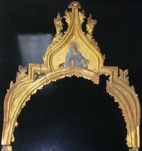Frame before conservation work