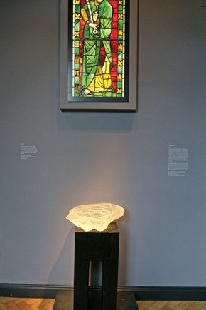 Figure 2. Wall-hung lightbox in the entrance of the Whiteley Sacred Silver