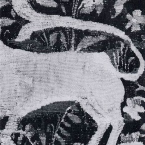 Fig. 2. Detail of Unicorn Tapestry before conservation
