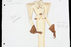 Costume design for 'Mary Ellis' in the musical 'Music in the Air', Victor Stiebel, 1934. Museum no. S544 - 1983