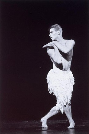 Adam Cooper as the Swan in 'Swan Lake,' Lez Brotherston, 1995. Museum no. 2006AL4673