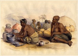 Zulu Woman Making Pottery, G. K. Childs for George French Angas's The Kaffirs Illustrated, 1849. Copyright British Museum