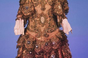 Costume worn in private court performance at the Castello di Meleto. Museum no. S.792-1982