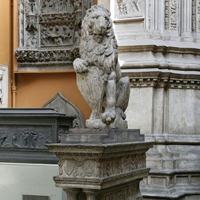 Plaster cast of the Marzocco lion, Lelli, Giuseppe; after Donatello, 1896; 1418-1420. Museum no. 1895-20