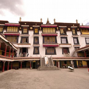 Temple Courtyard, Drepung, Tibet. Photograph © John Huntington