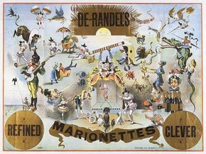 Poster for De Randall's Marionettes, late 19th century. Museum no. S.4077-1995