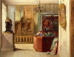 The First Room at Marlborough House, watercolour, William Linnaeus Cassey, 1856. Museum no. 7279 CIS. © Victoria and Albert Museum, London