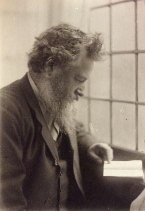William Morris, photograph by Frederick Hollyer, 1884, platinum print. Museum no. 7716-1938, © Victoria and Albert Museum, London
