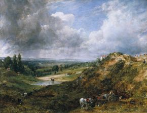 Hampstead Heath: Branch Hill Pond by John Constable, oil on canvas, 1828, Museum no. FA35(0). © Victoria and Albert Museum, London.