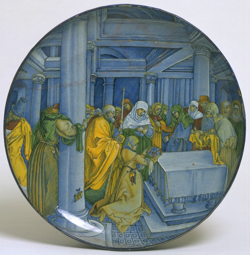 Sculpture metalwork ceramics glass department victoria and dish the presentation of christ in the temple after albrecht drer arubaitofo Choice Image