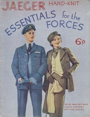 'Essentials for the Forces' (front cover), Jaeger, 1940s