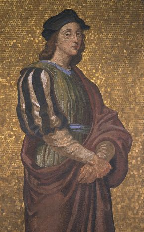 Mosaic of Raphael by F. H. Cole and M. Jennings, after F. W. Moody's painting, 1872. © Victoria and Albert Museum, London