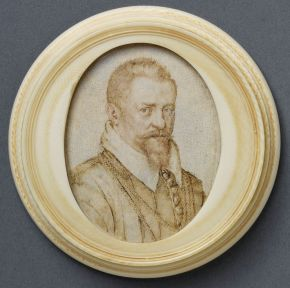 Jan Wierix, portrait of an unknown man, about 1600-10, ink and watercolour on vellum. Museum no. P.91-1938, © Victoria and Albert Museum, London
