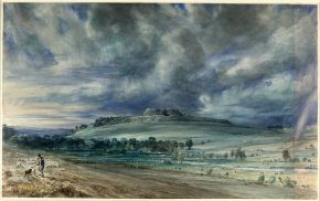 'Old Sarum', by John Constable, 1834, watercolour. Museum no. 1628-1888, © Victoria and Albert Museum, London