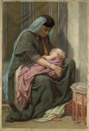 'Copt Mother and Child', by Frederick Goodall, 1875, watercolour. Museum no. 517-1882, © Victoria and Albert Museum, London
