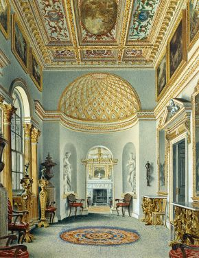 The Gallery, Chiswick House, William Henry Hunt, 1828, watercolour. © Devonshire Collection, Chatsworth. Reproduced by permission of the Chatsworth Settlement Trustees