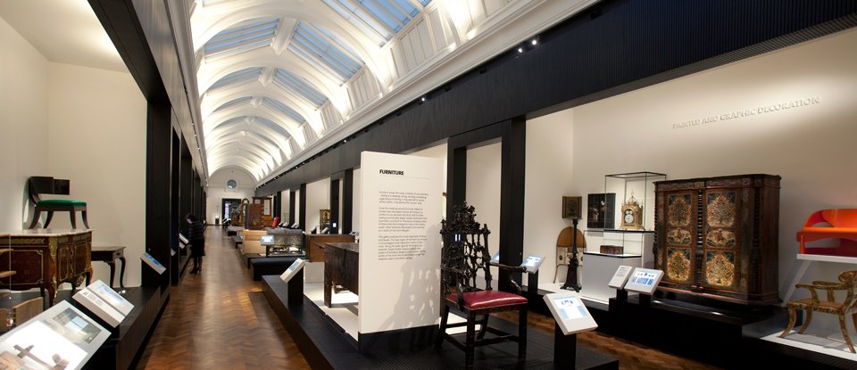 View of the new furniture gallery