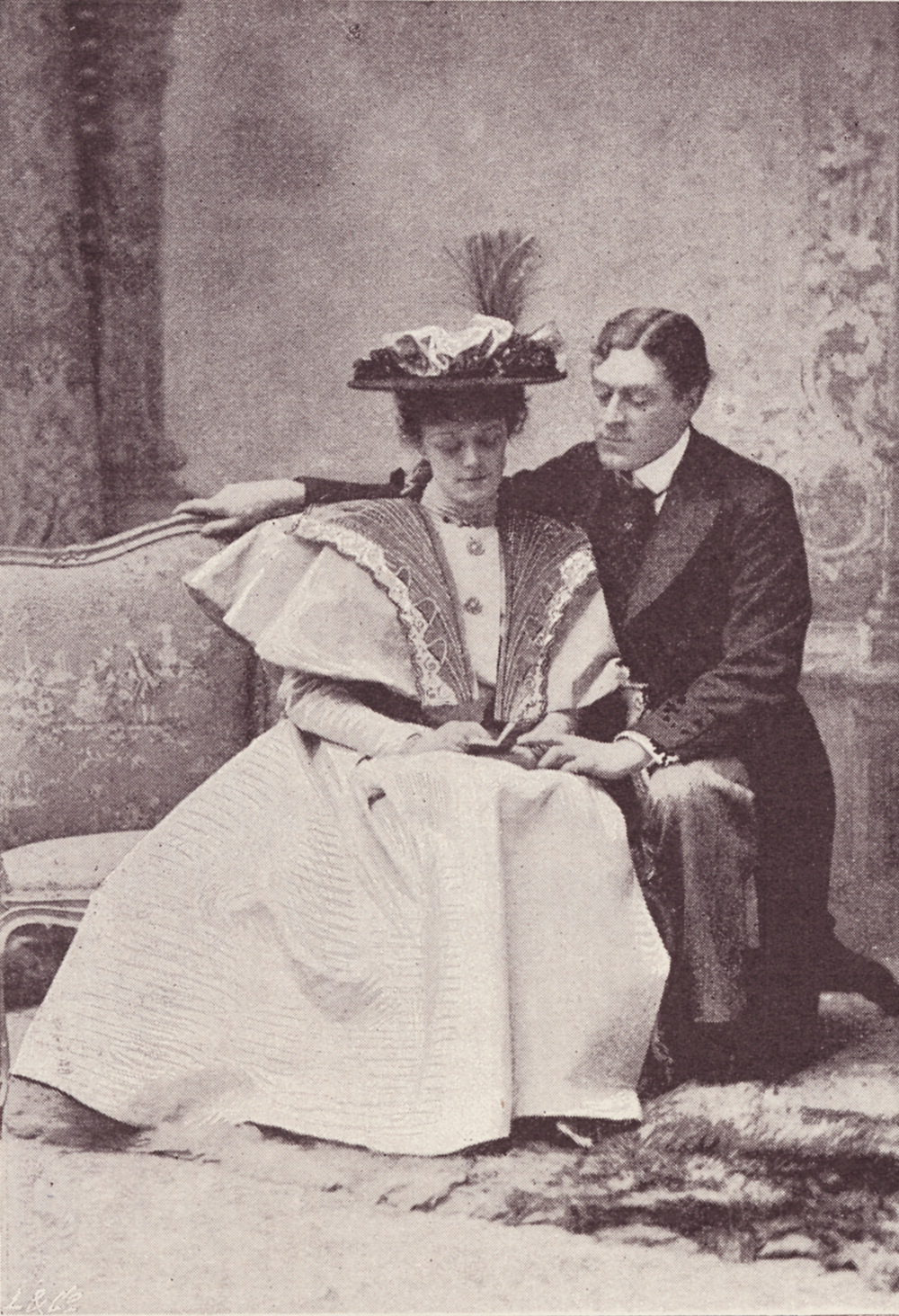 Irene Vanbrugh as Gwendolen Fairfax and George Alexander as Jack Worthing  in the 1895 production of 'The Importance of Being Earnest', from The  Sketch ...