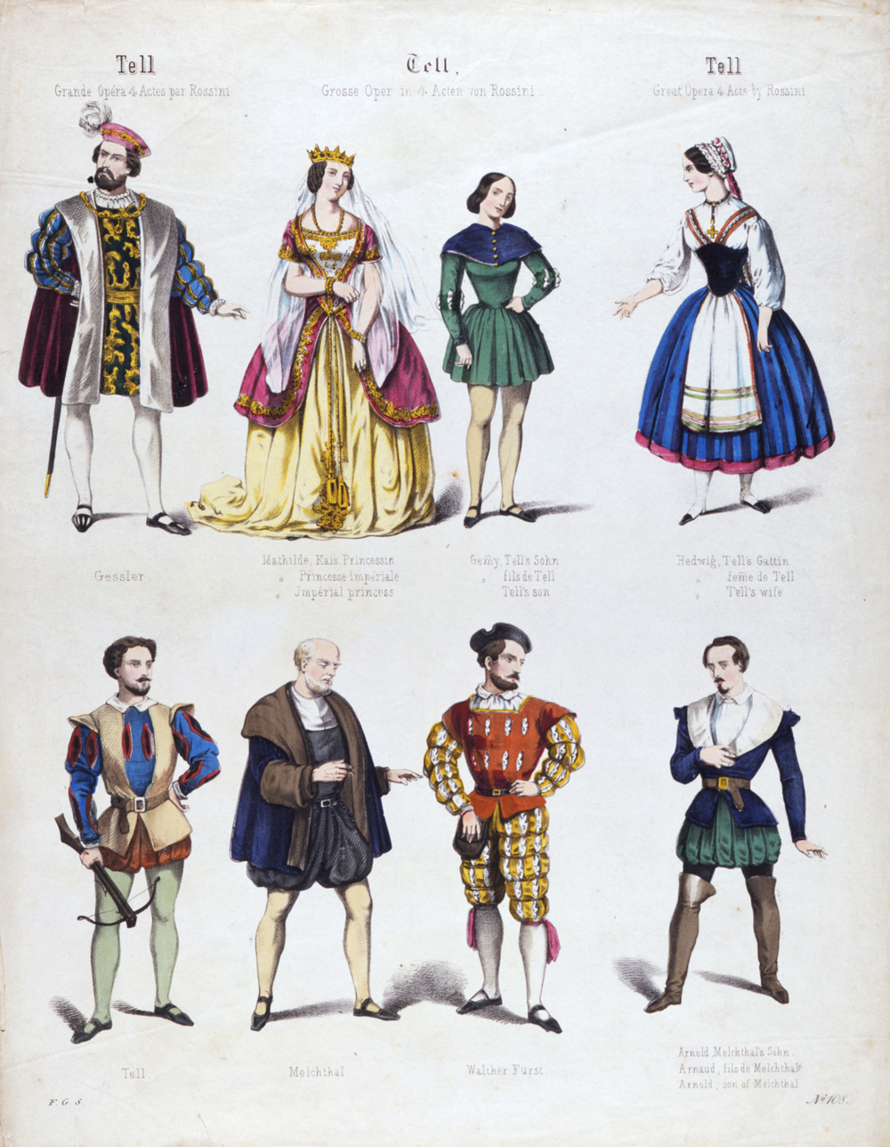 19th century opera victoria and albert museum coloured print of costume design for gioacchino rossini s opera william tell 19th century