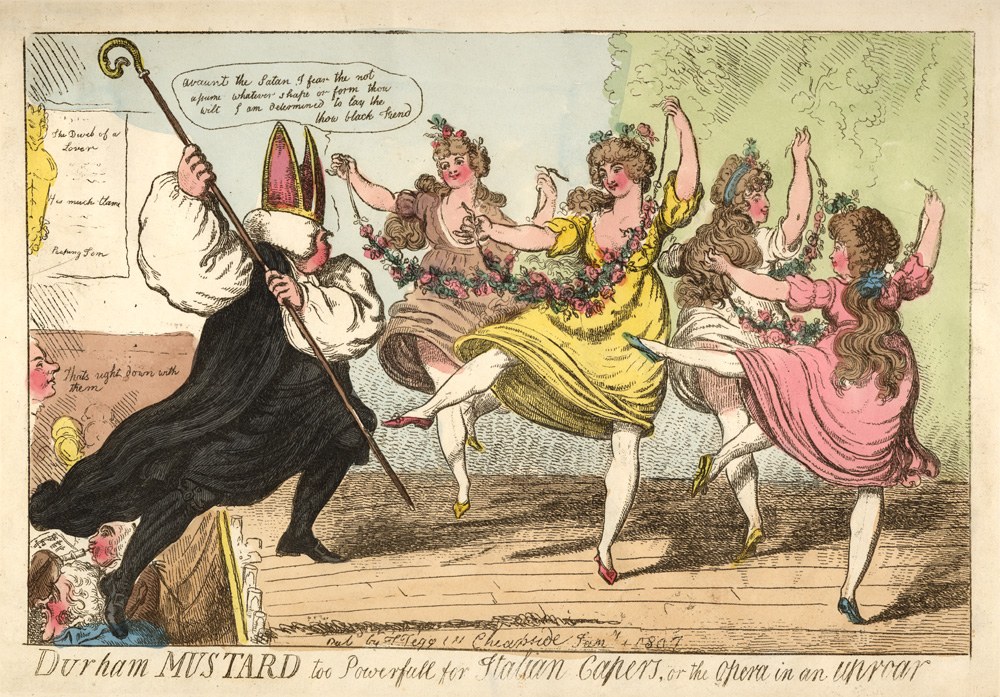 the origins of ballet victoria and albert museum isaac cruickshank coloured lithographic print of opera in an uproar performed 1807
