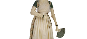 Interactive: Gown Made from a Shawl, by Unknown Maker, about 1797