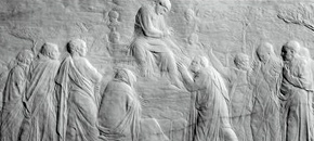 The Ascension Relief by Donatello, 1428-30