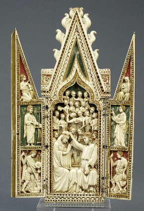 The Coronation of the Virgin triptych, unknown maker, 1360-1370. Museum no. 143-1866