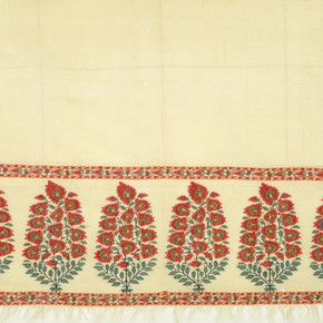 Detail of a man's sash (patka), about 1725-50, pashmina. Museum no. IS 12-1982