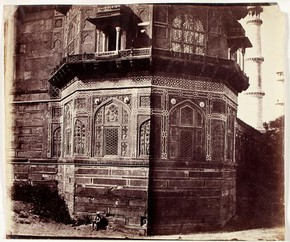 'The Octagon at the Taj Mahal', by John Murray, 1875. Museum no. PH.383-1982