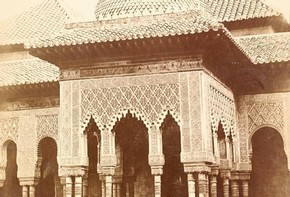 Charles Clifford, 'Court of the Lions, Alhambra Palace, Granada', about 1860. Museum no. 35:508