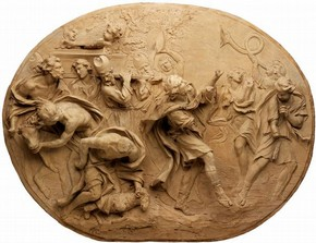 Relief, 'David Dancing before the Arc', Alessandro Algardi, Rome, Italy, 1600-1650. Museum no. A.23:1-1959, © Victoria and Albert Museum, London