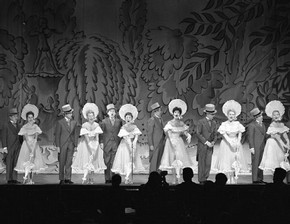 The Tiller Girls performing at the London Palladium, photograph by Harry Hammond, England, 1958. Museum S.13747-2009