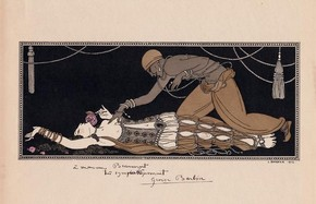 Illustration from Michel Fokine's ballet Schéhérazade, 1913. Museum no. S.15-2001