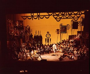 Scene from Wagner's opera The Mastersingers of Nuremberg, Royal Opera House, Covent Garden, London, 1957