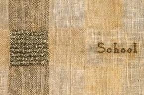 Sampler, Eliza Broadhead, 1785. Museum no. T.731-1997