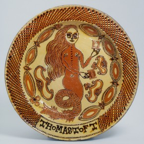 Dish, Thomas Toft, Staffordshire, United Kingdom, 1670-89. Museum no. 299-1869 