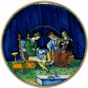 Plate, Jacopo (Maestro), Cafaggiolo, Italy, 1510. Museum no. 1717-1855