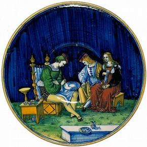 Plate, Jacopo (Maestro), Cafaggiolo, Italy, 1510. Museum no. 1717-1855