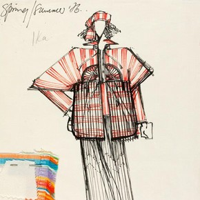 2) Bill Gibb (1943-88), fashion design, London, 1976. Museum no. E.127-1978