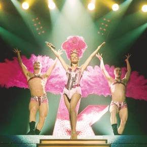 Kylie Minogue wearing the 'Dancing Queen' corset and tiara, Intimate and Live tour, Australia and London, 1998. Photograph by Campbell Knott