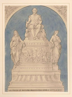 Figure 14 - Design for Shakespeare monument in Sketches and Drawings by John Thomas, Volume 2 (RIBA, 95)