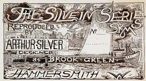 Figure 2 - Design for Silvern Series label, 1889 (SE484). Museum of Domestic Design & Architecture